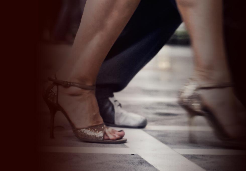 Füße Ute und Mann